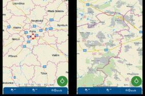 MapFactor Navigator zobrazení hranic okresů