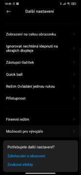 MIUI 12 zpomalený mobil animace režim pro vývojáře