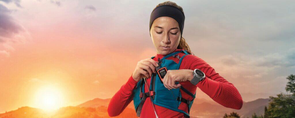 nové hodinky Garmin Enduro běžkyně