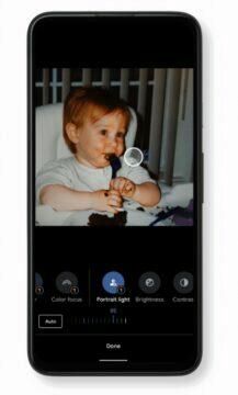 Google fotky nový video editor - Portrait Light