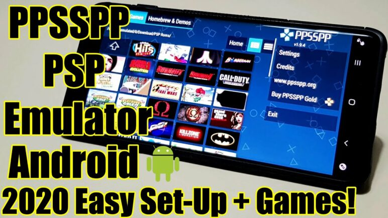 PPSSPP - PSP Emulator - Android - 2020 - Easy Set Up And Games!