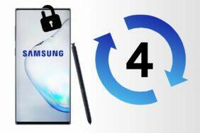 Samsung čtyřleté bezpečnostní updaty