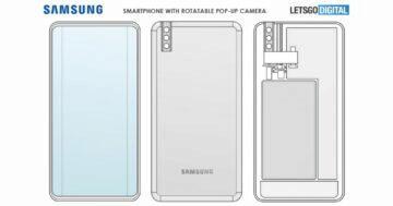 Samsung patent výsuvný otočný selfie foťák 1