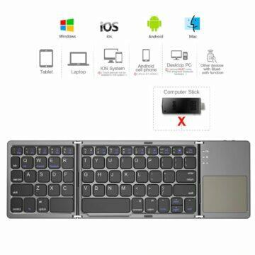 Skládací klávesnice s touchpadem AVATTO