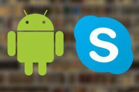 Skype Android aplikace rozmazané pozadí