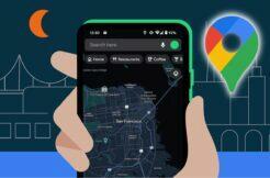 tmavý režim Google Mapy oficiálně