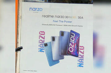 Plakát s Realme Narzo 30 Pro