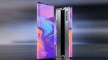 Xiaomi Mi MIX koncept 2021 displej záda ohyb vysouvání