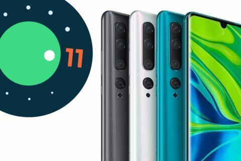 Xiaomi Mi Note 10 Pro Android 11
