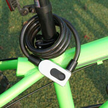 Zámek na kolo s otevíráním na otisk prstu