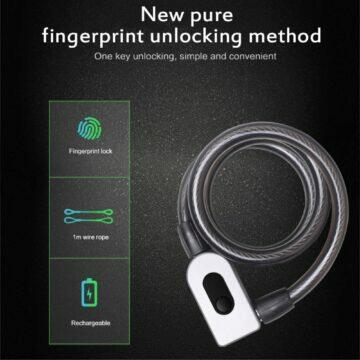 Zámek na kolo s otevíráním na otisk prstu vlastnosti