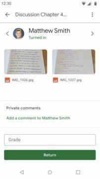 Google Classroom offline mód - znamkovani prace