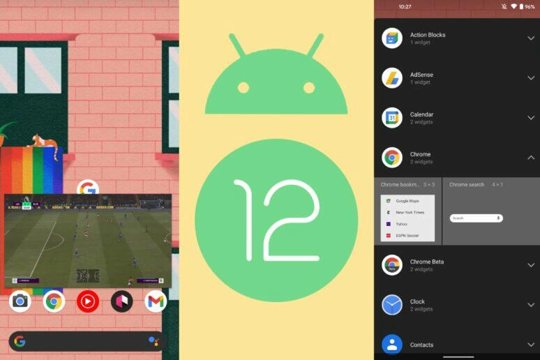 Android 12 DP2 přehled novinek