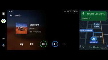 android auto split screen