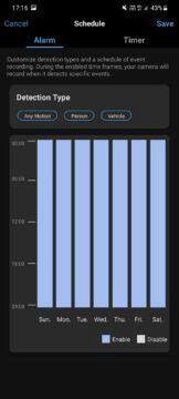 aplikace detekce pohybu časy
