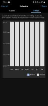 aplikace detekce pohybu časy vyloučení
