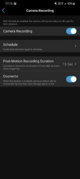 aplikace nastavení nahrávání