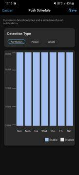 aplikace nastavení notifikací časy
