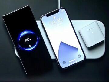 Apple Xiaomi bezdrátová nabíječka