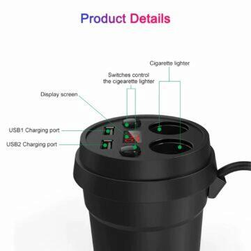 Auto adaptér do nápojové přihrádky funkce