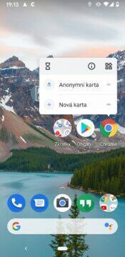 chrome anonymni karta - zkratky na plochu Androida
