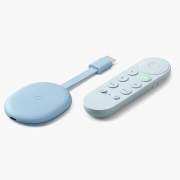 srovnání modelů chromecast s Google TV modra