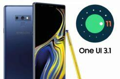 Galaxy Note 9 Android 11 One UI 3.1