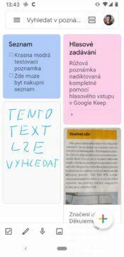 Google keep vychytávky - nastěnka