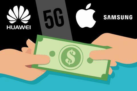 Huawei Samsung Apple 5G patenty