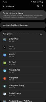 Jak změnit výchozí aplikace One UI nastavení aplikace