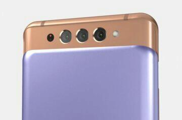 Netradiční design Galaxy A82 5G