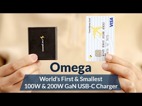 Omega: The World's First & Smallest 200W & 100W GaN USB-C Charger Indiegogo- Live NOW