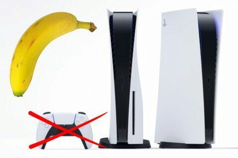 PlayStation ovladač banán