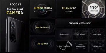 POCO F3 foto video audio