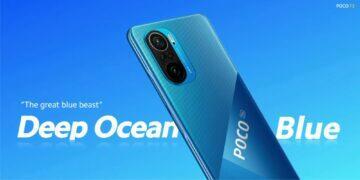 POCO F3 modrá