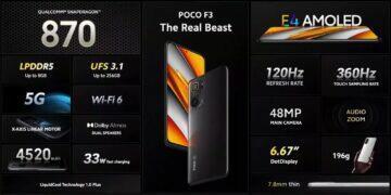 POCO F3 parametry