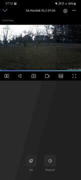 Reolink RLC-810A aplikace náhled videa
