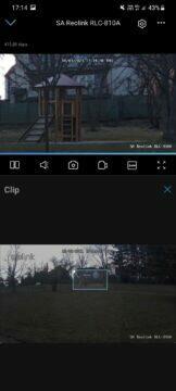 Reolink RLC-810A aplikace náhled videa clip