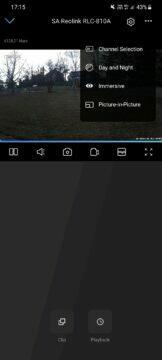 Reolink RLC-810A aplikace náhled videa další možnosti