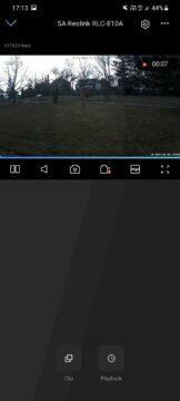 Reolink RLC-810A aplikace náhled videa nahrávání