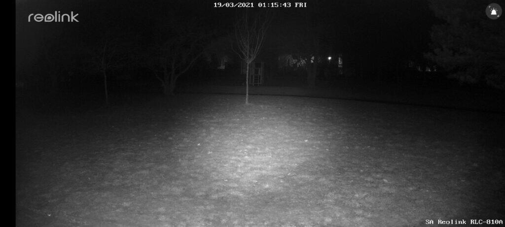 Reolink RLC-810A aplikace noční režim ukázka