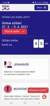 Sčítání 2021 přes mobil aplikace úvod