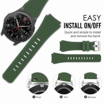 silný Bluetooth vysílač Silikonové 22mm řemínky pro chytré hodinky