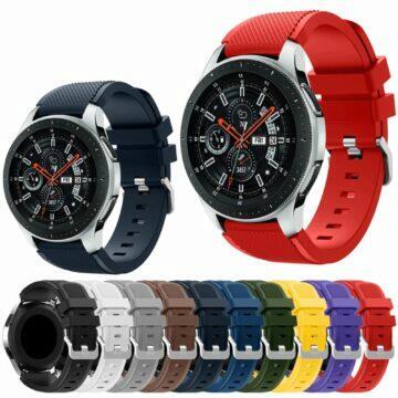 silný Bluetooth vysílač Silikonové 22mm řemínky pro chytré hodinky barvy