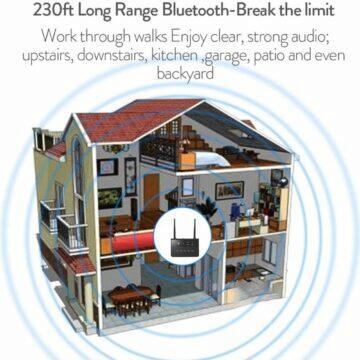Silný Bluetooth 5.0 vysílač transmitter přijímač receiver dosah