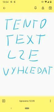 Google Keep vychytávky - vyhledavani rucne psaneho textu