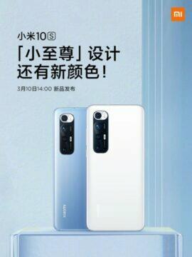 Xiaomi představí Mi 10S