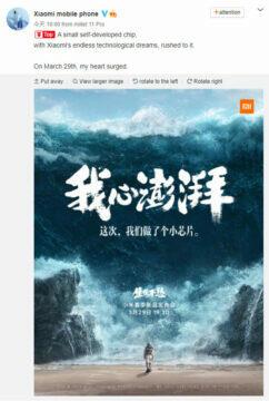 xiaomi prispevek na socialni siti weibo