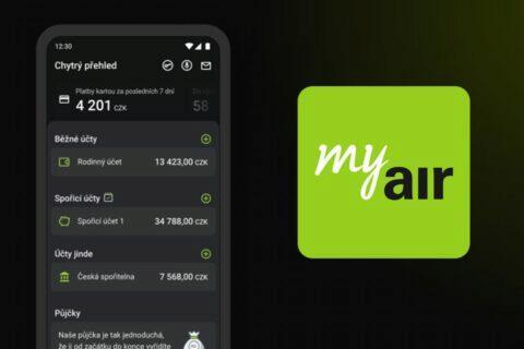 AirBank aplikace tmavý režim