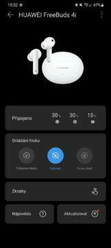 aplikace AI Life Huawei FreeBuds 4i
